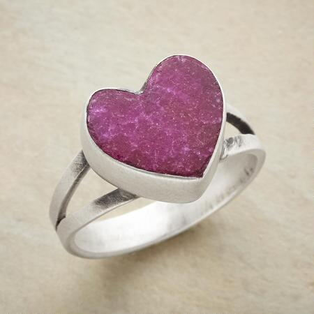 A pink heart ring that will win you over with its guileless charm.