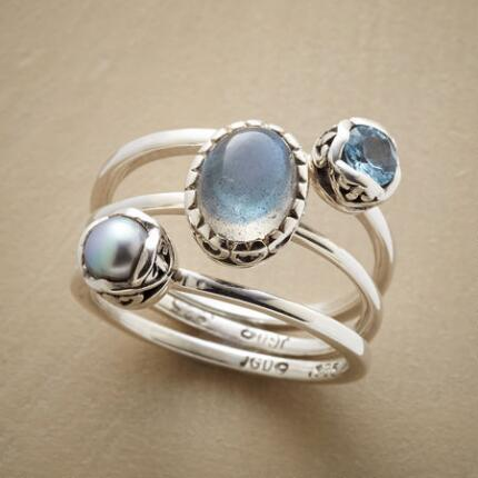 STARDUST RINGS, SET OF 3