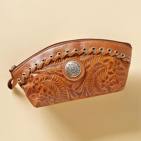 PECOS HANDTOOLED POUCH