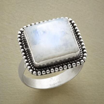 A gorgeous dreamland moonstone ring that will catch the eye and hold it.