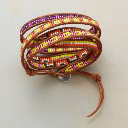 KALEIDOSCOPE 5 WRAP ORANGE BRACELET