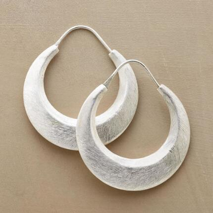 A glowing, generous pair, these Nile moon hoop earrings are simply gorgeous.