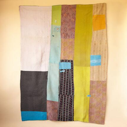 ONE-OF-A-KIND MARANTA QUILTED THROW