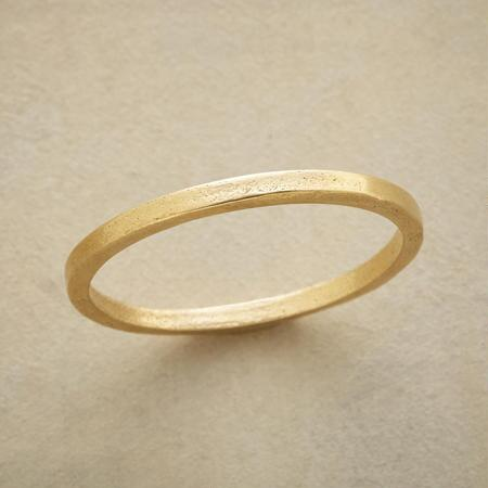 This simple gold band ring is just as essential as it is understated.