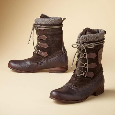 CLARA LACE UP BOOTS