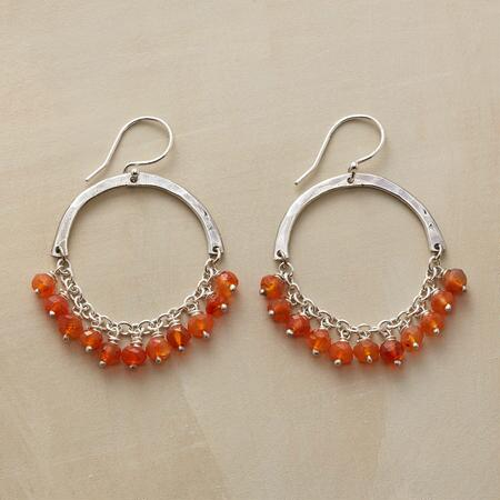 CARNELIAN SEMICIRCLE EARRINGS