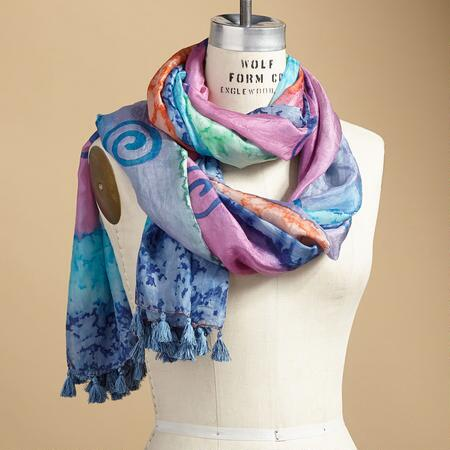 WATERFALL SILK SCARF