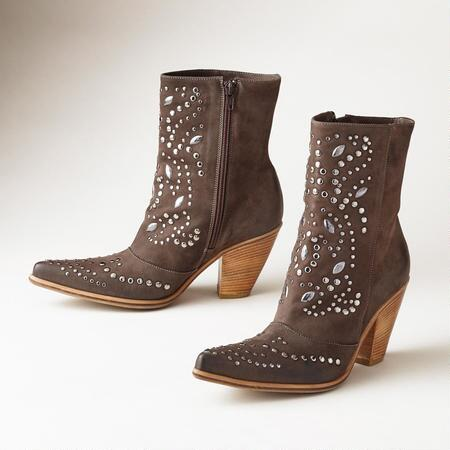 Our studded leather Italian ankle boots make an exceptionally lovely statement.