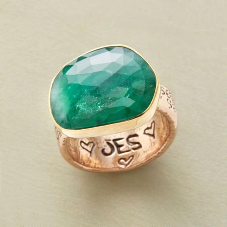 This gorgeous Jes MaHarry rose gold emerald ring will stun you with its vibrancy.