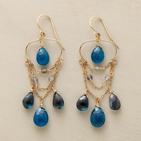 SWINGING THE BLUES EARRINGS
