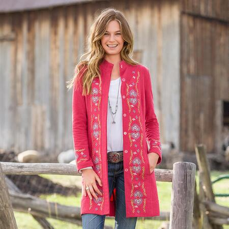 FREYA EMBROIDERED COAT