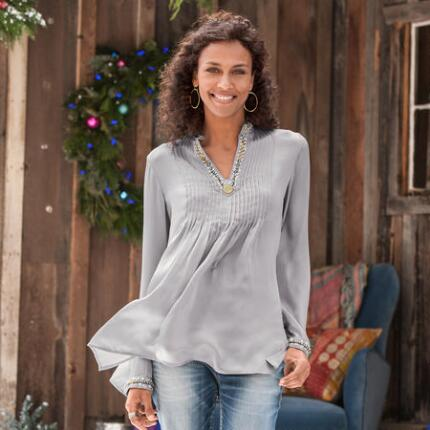 TIME TO SHINE TUNIC - PETITES