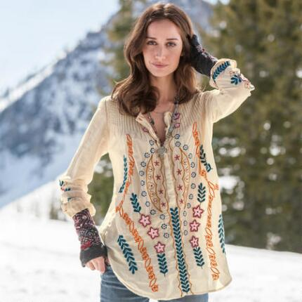 ACANTHUS EMBROIDERED TUNIC