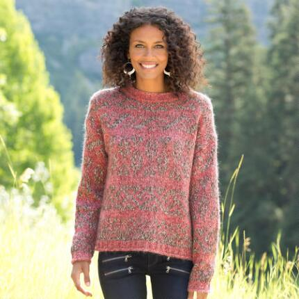 SHIMMERING TAPESTRY SWEATER
