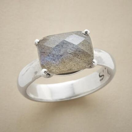 With its simple lines and stunning stone, this checkmate labradorite ring is a winner.