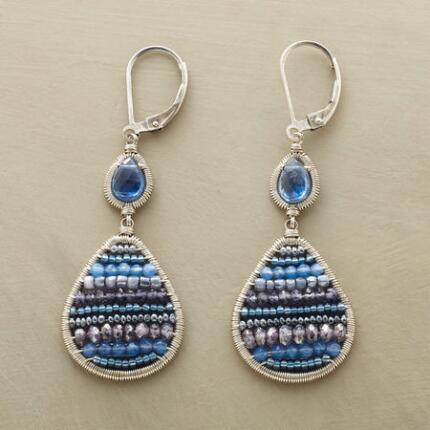 Like giant beads of cool water, these Dana Kellin blue double drop earrings are utterly refreshing.