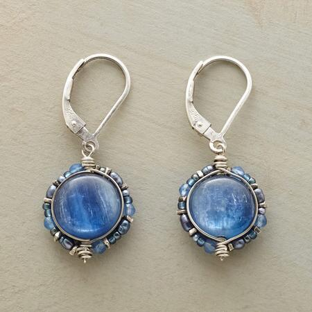 This pair of Dana Kellin leverback kyanite earrings emits a heavenly glow.