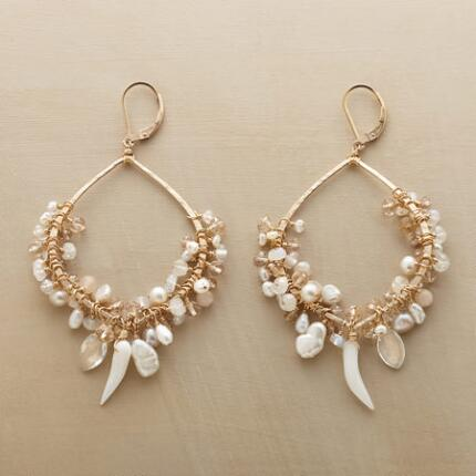 Luminously graceful, these Dana Kellin gemstone hoop earrings are absolutely gorgeous.