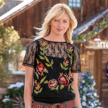 TAPESTRY ROSE TOP