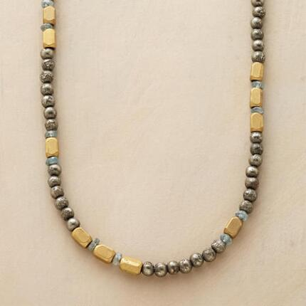 BRASS PYRITE NECKLACE