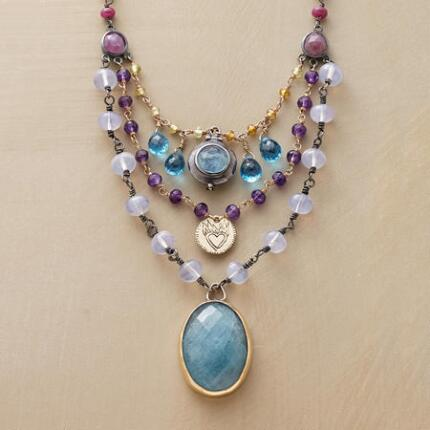A Jes MaHarry tiered gemstone necklace that arrests the eye with its stunning design.
