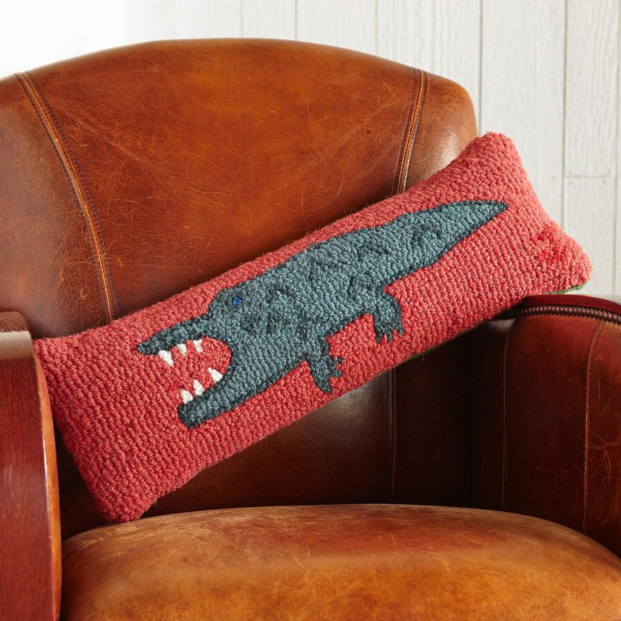 ALLIE GATOR HOOKED PILLOW