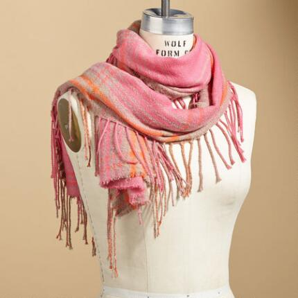 LONG ON FRINGE SCARF