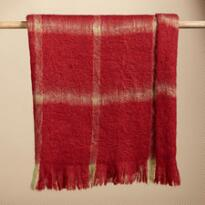 MISSOULA RED PLAID FIRESIDE THROW BLANKET