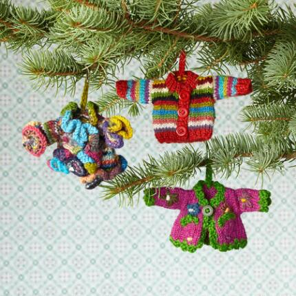 SWEATER ORNAMENTS, SET OF 3