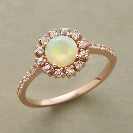 This 14kt  gold starlight circle ring will add a soft sparkle to any occasion.