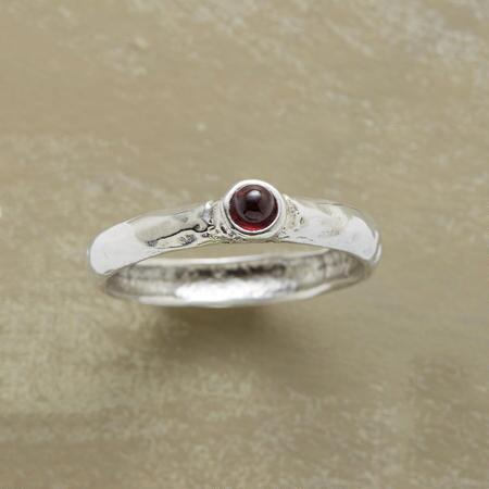 GRACED WITH GARNET RING