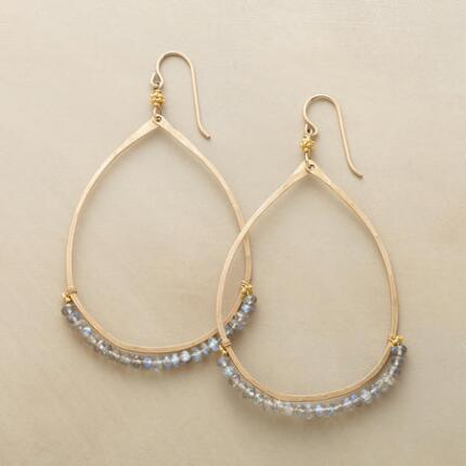 WIDE OPEN LABRADORITE HOOPS