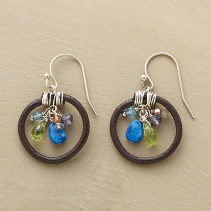 GEMSTONE ROUNDUP EARRINGS