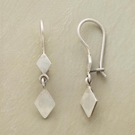 STERLING DIAMOND DUO EARRINGS