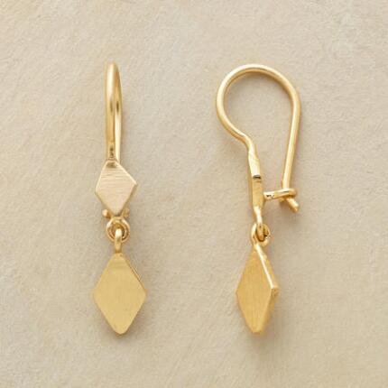 GOLDPLATED DIAMOND DUO EARRINGS