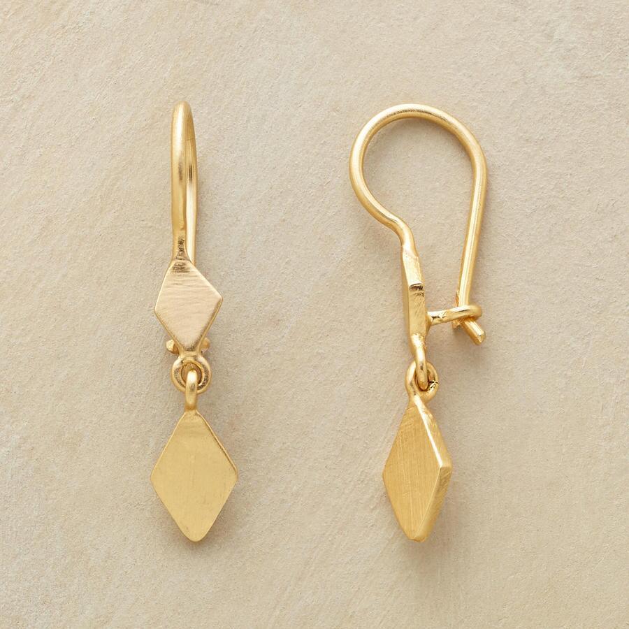 GOLD PLATED DIAMOND DUO EARRINGS