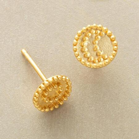 This pair of sun and moon vermeil stud earrings will be a ray of light in any ensemble.