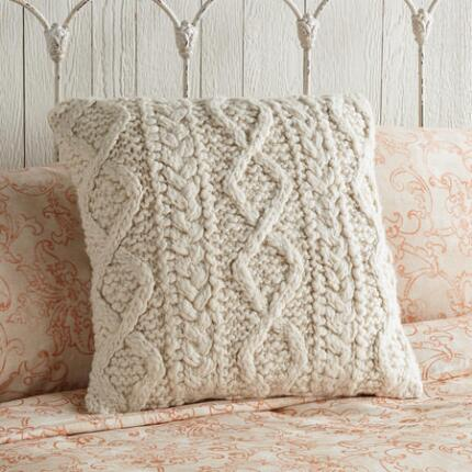 ARAN HAND KNIT PILLOW
