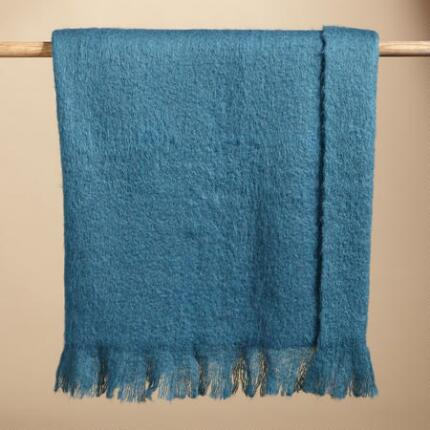 HELENA MOHAIR FIRESIDE THROW BLANKET
