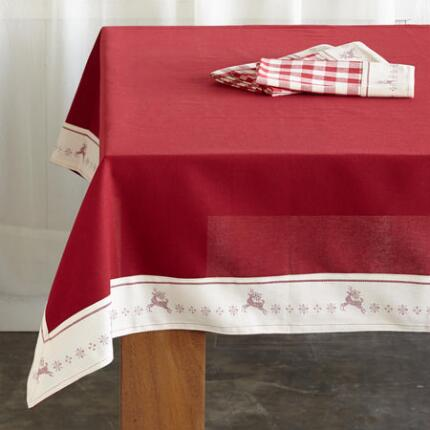 DANCING REINDEER TABLECLOTH