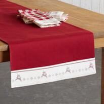 DANCING REINDEER TABLE RUNNER