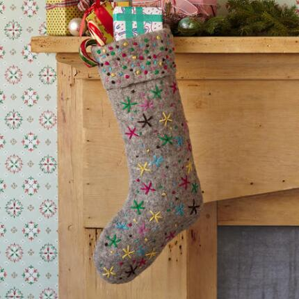 STARSHOWER FELT STOCKING