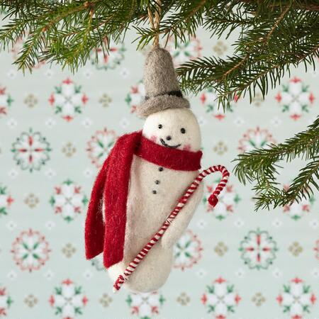 OLD TIMEY SNOWMAN ORNAMENT