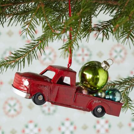 BIG RED TRUCK ORNAMENT