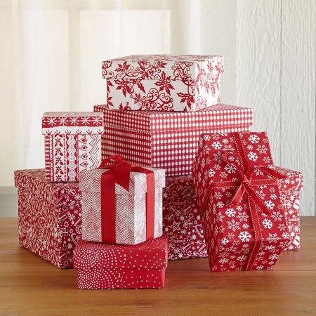 RED, WHITE & WONDERFUL GIFT BOXES S/7