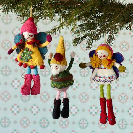 FANCIFUL FELTWORK FRIENDS, SET OF 3