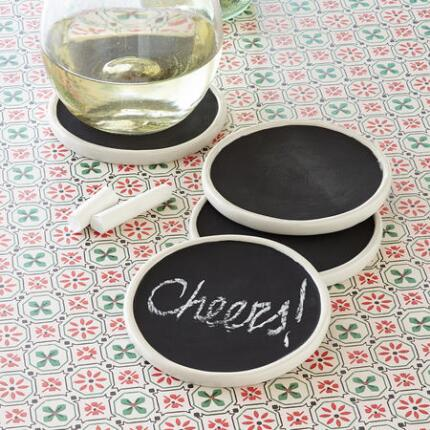 CHALKBOARD COASTERS, SET OF 4