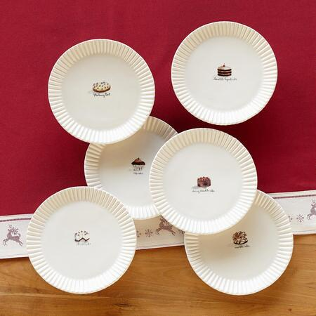 SWEETS DESSERT PLATES, SET OF 6