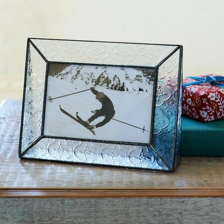PRESSED GLASS PICTURE FRAME