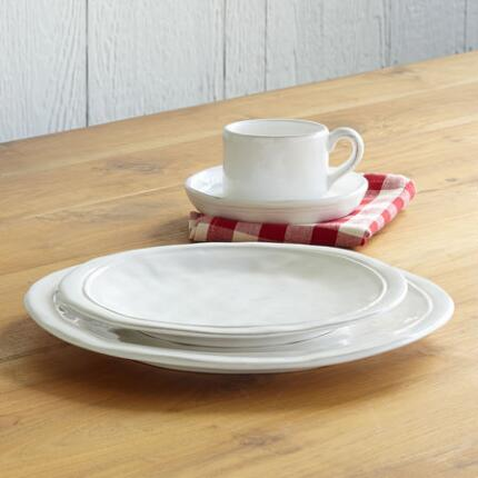 WHITEWASHED DINNERWARE, 4-PIECE PLACE SETTING